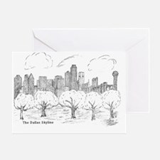 Skyline Sketch H2000 size by Elizabe Greeting Card
