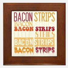 Bacon Strips Framed Tile