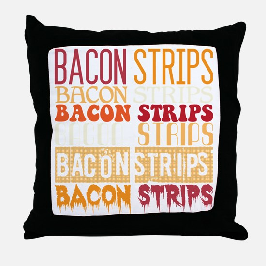 Bacon Strips Throw Pillow