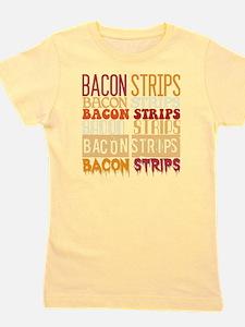 Bacon Strips Girl's Tee