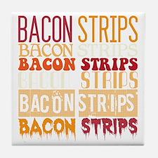 Bacon Strips Tile Coaster
