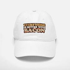 Better with bacon Baseball Baseball Cap