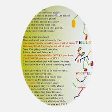 LISTEN LISTEN NEW COMPOSITION Oval Ornament