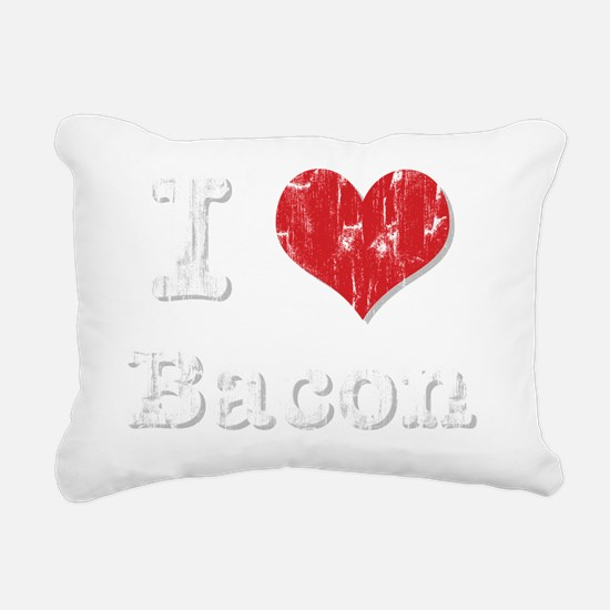 I Heart Bacon Rectangular Canvas Pillow