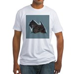 Scottish Terrier - Scotty Dog Fitted T-Shirt