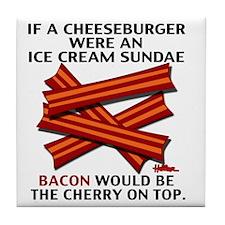 vcb-bacon-cherry-on-top-2011 Tile Coaster