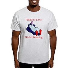 Penguins Love Global Warming T-Shirt