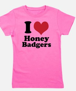 I Heart Honey Badger Girl's Tee