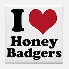 I Heart Honey Badger Tile Coaster