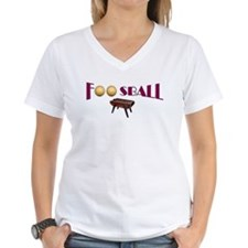 V-Neck T-Shirt - Foosball Goddess Front/Back