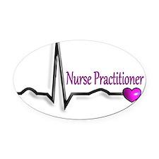 Nurse practitioner PINK HEART Oval Car Magnet