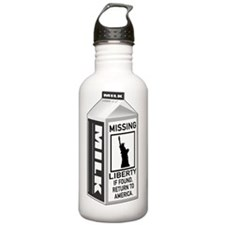 Missing-Centered Water Bottle
