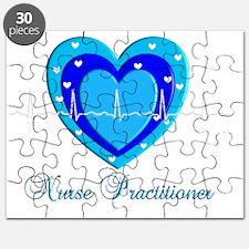 Nurse practitioner BLUE QRS Heart Puzzle