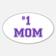 #1 Mom in purple Decal