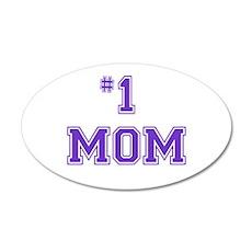 #1 Mom in purple Wall Sticker