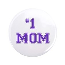 "#1 Mom in purple 3.5"" Button"