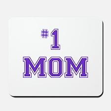 #1 Mom in purple Mousepad