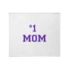 #1 Mom in purple Throw Blanket