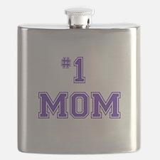 #1 Mom in purple Flask