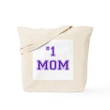 #1 Mom in purple Tote Bag