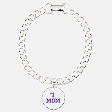 #1 Mom in purple Bracelet