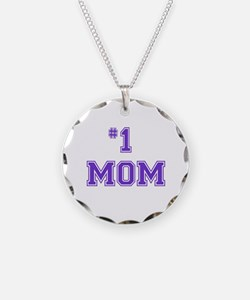 #1 Mom in purple Necklace