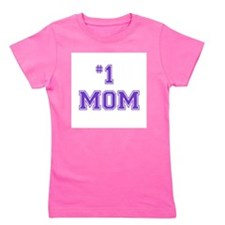 #1 Mom in purple Girl's Tee