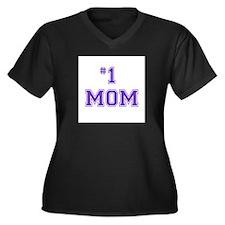 #1 Mom in purple Plus Size T-Shirt