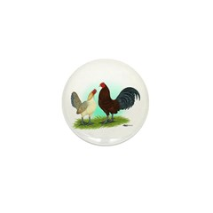 Blue Red Quill OE Mini Button (100 pack)
