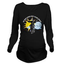 Psalms111-black Long Sleeve Maternity T-Shirt