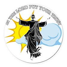 Psalms111-black Round Car Magnet