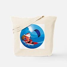 Santa KiteSurf Tote Bag