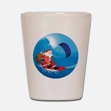 Santa KiteSurf Shot Glass