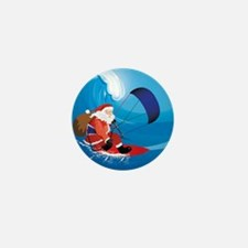 Santa KiteSurf Mini Button