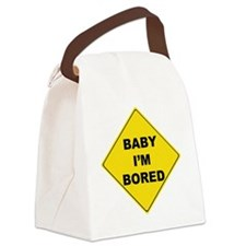 baby Im bored Canvas Lunch Bag