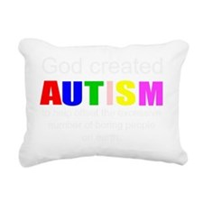 Autism vs boredom Rectangular Canvas Pillow