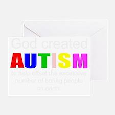 Autism vs boredom Greeting Card