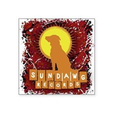 "Sundawg Scribbles 2 Square Sticker 3"" x 3"""