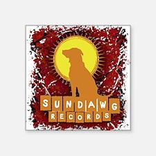 "Sundawg Scribbles 2 Square Sticker 3"" x 3"""