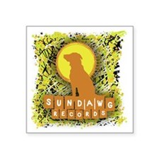"Sundawg Scribbles 1 Square Sticker 3"" x 3"""