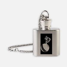 9Ball_Man_Dk_5x3rect_sticker Flask Necklace