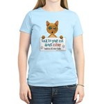 Talk To Your Cat About Catnip Womens Yellow T-Shir