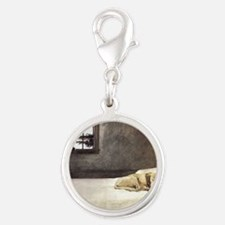 yellow lab wallet andrew wyeth Silver Round Charm