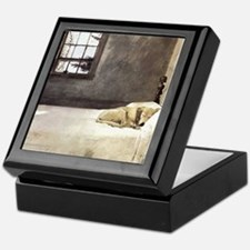 yellow lab wallet andrew wyeth copy Keepsake Box