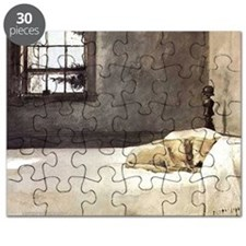 yellow lab wallet andrew wyeth copy Puzzle