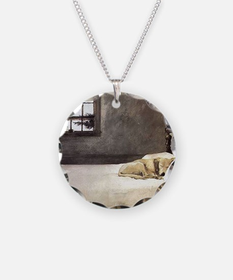 yellow lab wallet andrew wye Necklace