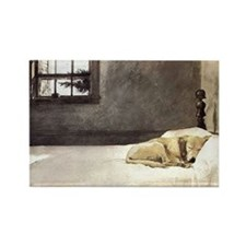 yellow lab wallet andrew wyeth co Rectangle Magnet