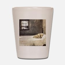 yellow lab wallet andrew wyeth copy Shot Glass