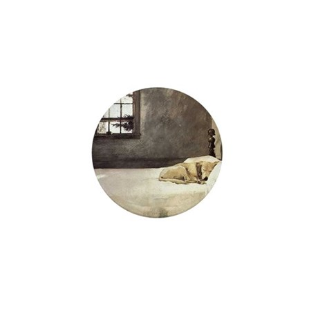 yellow lab wallet andrew wyeth copy Mini Button