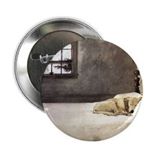 """yellow lab wallet andrew wyeth copy 2.25"""" Button"""